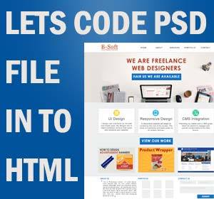 how to convert psd to html css Urdu Tutorial