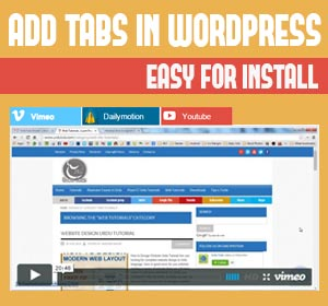 How to make tabs in WordPress